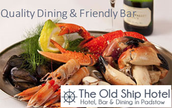 Dining in Padstow The old Ship Hotel
