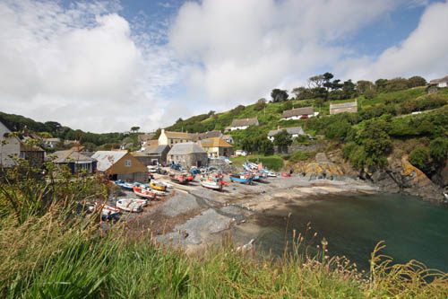 Cadgwith Cove Cornwall on the Lizard Peninsula beautiful cliff views