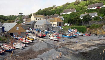 Cadgwith Cove Harbour The Lizard Peninsular Cornwall
