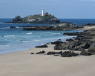 Godrevy Lighthouse Cornwall - an excellent spot for wedding cars in Cornwall