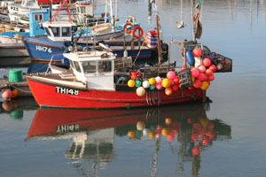 Boat in Newlyn Harbour Cornwall