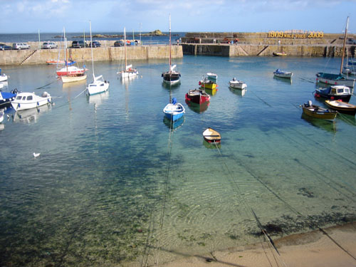 Mousehole Cornwall Boats in the harbour