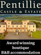 Pentillie romantic castle accommodation Cornwall